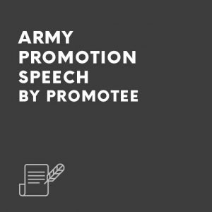 general promotion speech